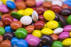 Предпосылка красочных падений конфеты Стоковая Фотография
