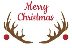 Предпосылка Кристмас вектора Antlers северного оленя рождества бесплатная иллюстрация