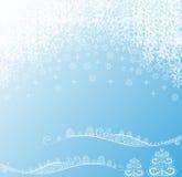 Предпосылка Кристмас с снежинками Стоковые Фото