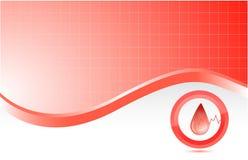 Предпосылка крови красная медицинская иллюстрация вектора