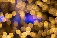 предпосылка круга света золота Bokeh ฺChristmas красивейший свет стоковая фотография rf