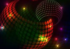 Предпосылка круга шарика яркого блеска Стоковое Изображение
