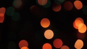 Предпосылка круглая, яркое торжество Bokeh праздничная живая, сияющая предпосылка, круг акции видеоматериалы
