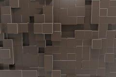 Предпосылка кубика технологии коричневого цвета уплотнения иллюстрация штока