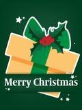 Предпосылка курортного сезона рождества с бумажный высекать искусства подарочной коробки под текстом веселого рождества в белизне иллюстрация вектора
