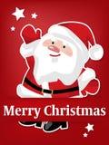 Предпосылка курортного сезона рождества с бумажный высекать искусства Санта Клауса под счастливыми праздниками! текст бесплатная иллюстрация