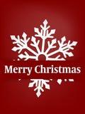Предпосылка курортного сезона рождества с бумажный высекать искусства снежинки под текстом веселого рождества в белизне на красно бесплатная иллюстрация