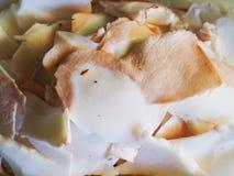 Предпосылка кучи части мяса кокоса Стоковое Фото