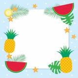 Предпосылка лета с тропическим плодоовощ Стоковые Изображения RF