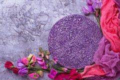 Предпосылка лета флористическая с красочным цветком Стоковые Изображения