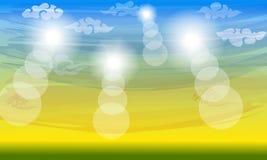 Предпосылка лета цвета солнечная Китайские облака стоковое фото rf