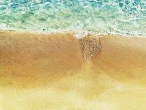 Предпосылка летнего отпуска пляжа песка текстуры воды Стоковые Фото