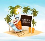 Предпосылка летних отпусков Стоковые Изображения RF