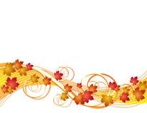 Предпосылка листьев осени летания Стоковая Фотография RF