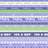 Предпосылка мальчика дня рождения Стоковая Фотография