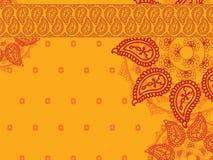 Предпосылка мандала хны цвета Стоковое Фото
