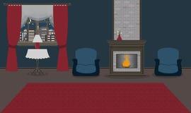 Предпосылка мегаполиса Безшовная граница с милым городским городским пейзажем в вечере или вечером иллюстрация вектора