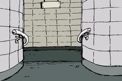 Предпосылка мезонина станции метро стоковая фотография rf