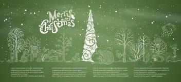 Предпосылка мела вектора с Рождеством Христовым Стоковое Изображение RF