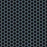 Предпосылка металла шестиугольника безшовная Стоковое Изображение