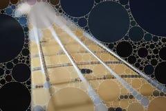 Предпосылка мозаики басовой гитары стоковые изображения rf