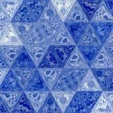 Предпосылка мозаики треугольника с прозрачностями в голубых цветах Стоковое Изображение