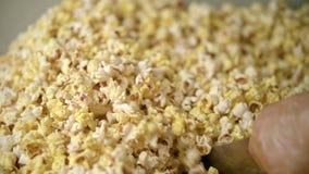 Предпосылка мозоли шипучки Процесс сушить попкорн после изготовлять видеоматериал