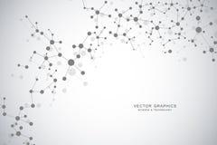 Предпосылка молекулярной структуры Исследование генетических и науки иллюстрация вектора