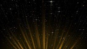 Предпосылка момента золотого мерцания яркого блеска абстрактная волшебная, плавать блеска золота, перемещаясь с линией зарева бесплатная иллюстрация