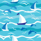 Предпосылка моря Стоковые Изображения RF