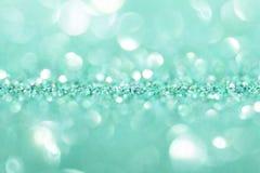 Предпосылка мяты с sparkles Стоковая Фотография RF