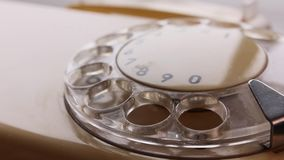 предпосылка набирая изолированную белизну телефона номера видеоматериал