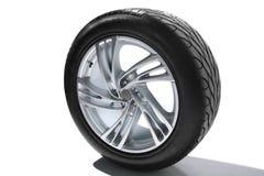 предпосылка над белизной колеса оправы стальной Стоковое Фото
