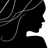 предпосылка над женщиной профиля белой иллюстрация вектора