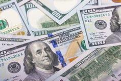Предпосылка наличных денег денег 100 долларов США абстрактная Стоковые Изображения