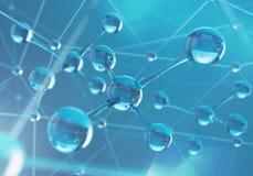Предпосылка науки с молекулой или атомом иллюстрация штока