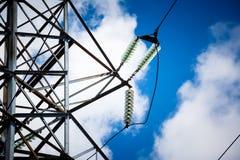 Предпосылка неба башни высоковольтного столба высоковольтная Electricit Стоковое фото RF