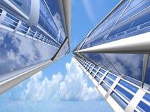 Предпосылка небоскреба Стоковая Фотография