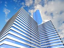 Предпосылка небоскреба Стоковое Фото
