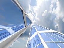 Предпосылка небоскреба Стоковое Изображение RF