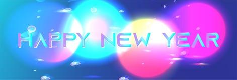 Предпосылка Нового Года объектов галактики светя иллюстрация штока