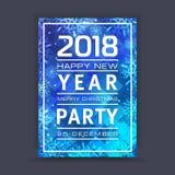 Предпосылка Нового Года с космосом для вашего текста приветствие рождества карточки Рамка зимы с снежинками Стоковая Фотография RF