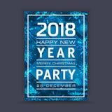 Предпосылка Нового Года с космосом для вашего текста Рамка зимы с снежинками приветствие рождества карточки Стоковые Фото