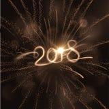 Предпосылка 2018 Новых Годов желтый цвет обоев вектора уравновешивания rac померанцовой картины цветков eps10 выстегивая ric stri бесплатная иллюстрация