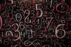 Предпосылка номеров от нул до 9 иллюстрация предпосылки нумерует вектор Текстура номеров Стоковые Изображения