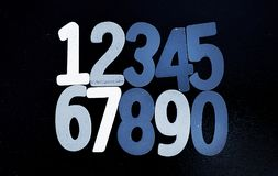 Предпосылка номеров от нул до 9 иллюстрация предпосылки нумерует вектор Текстура номеров Стоковая Фотография