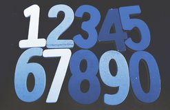 Предпосылка номеров от нул до 9 иллюстрация предпосылки нумерует вектор Текстура номеров Стоковое Изображение RF
