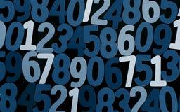 Предпосылка номеров от нул до 9 иллюстрация предпосылки нумерует вектор Текстура номеров Стоковые Фото