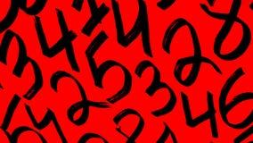 Предпосылка номеров от нул до 9 иллюстрация предпосылки нумерует вектор Текстура номеров Стоковые Изображения RF
