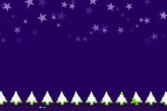 Предпосылка ночи украшения рождества с строкой снега покрыла f стоковое фото